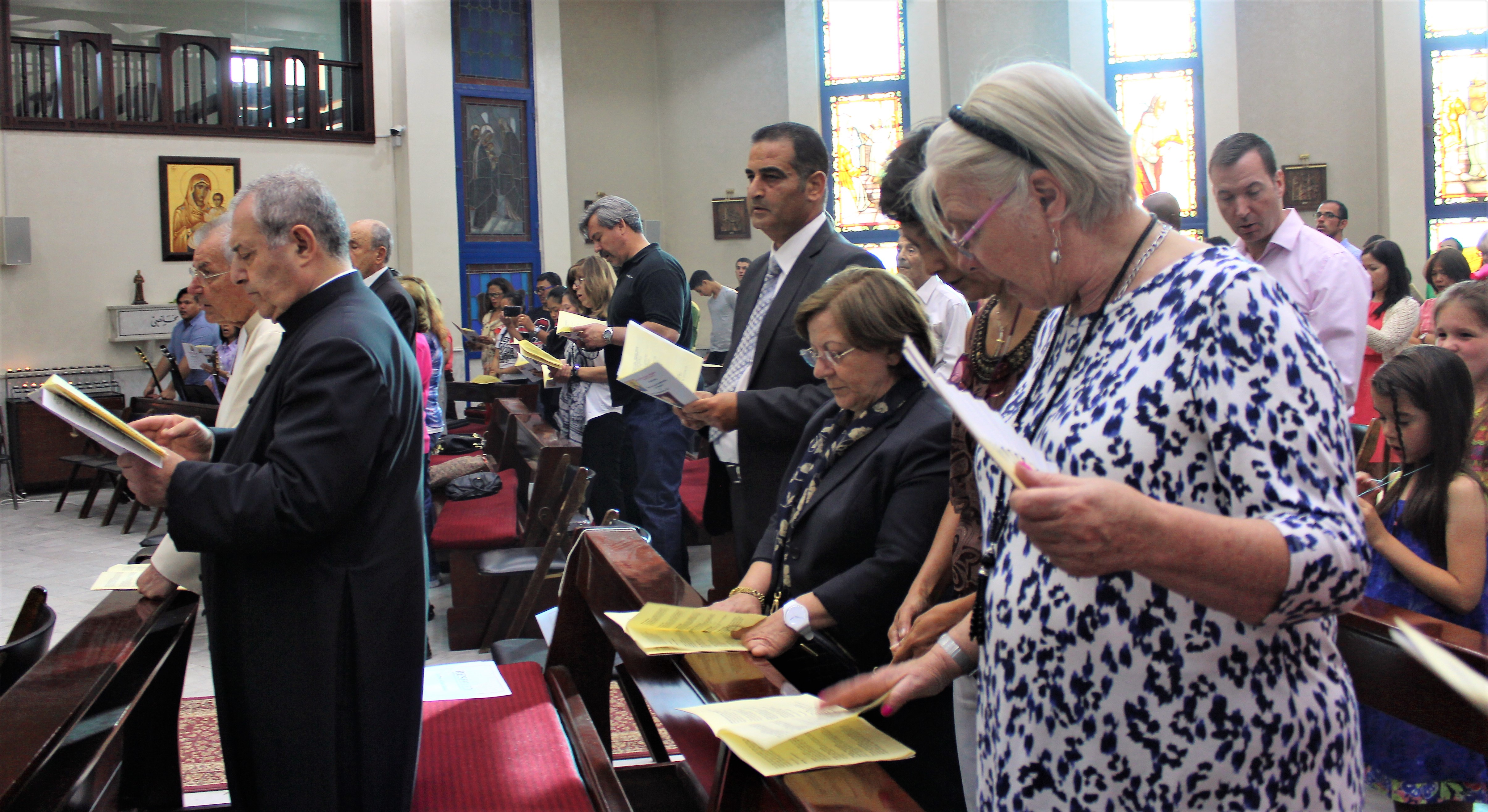 Following the Prayer of the Faithful, which was read in 10 languages, reflecting the variety of the English Language Parish