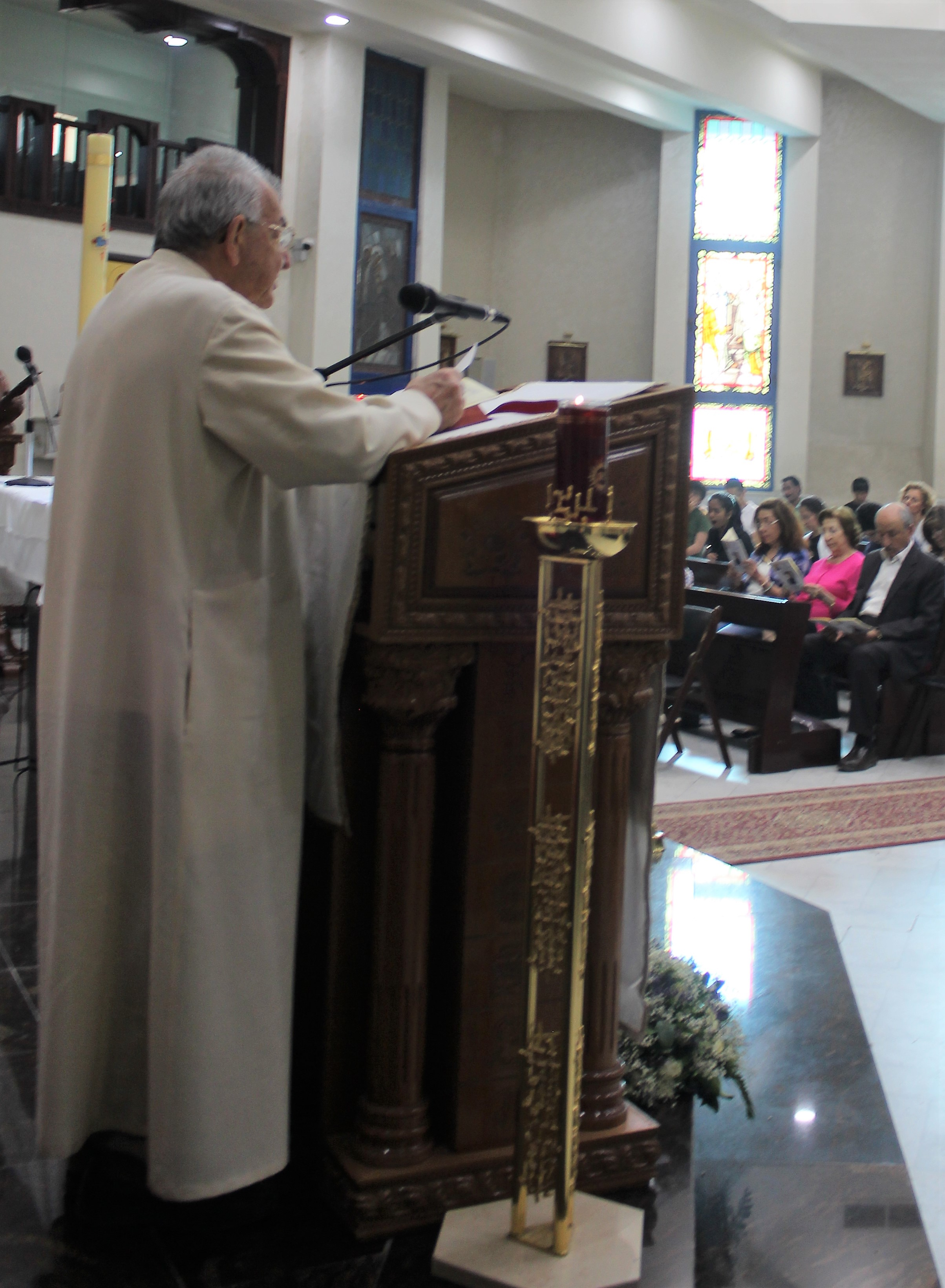 Brother Albert reads the First Reading